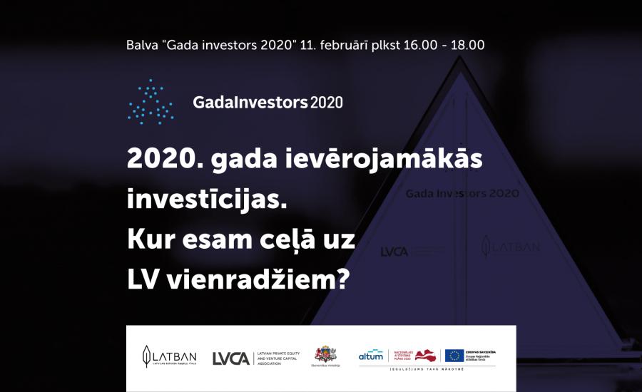 Aicinām uz Gada Investors 2020 ceremoniju