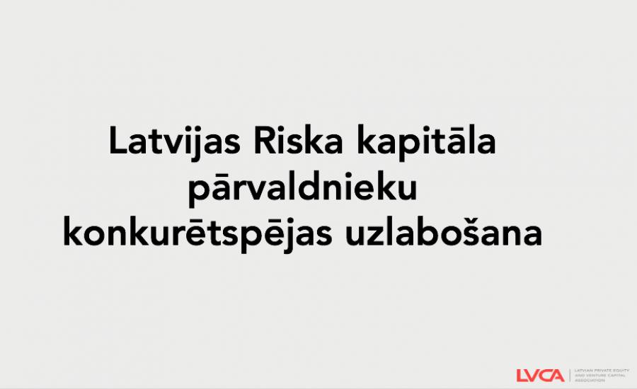 Būtiski atvieglos riska kapitāla pārvaldnieku uzraudzības slogu
